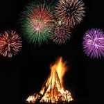 Hogmanay Bonfire and Fireworks on the Quoting Green