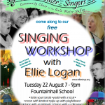 Singing Workshop 22 August 7-9pm : Free!
