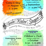 Gala Water Singers New Season 2018-19